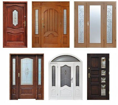 drzwi zewnętrzne drewniane front doors